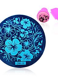 billige -Nail Art stempling Plate Stamper Skraber 5.5