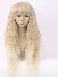 cheap -New Fashion Women's Glueless Deep Blonde Mix Curly Long Hair Wig for African American