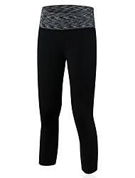 economico -Per donna Pantaloni da corsa Asciugatura rapida Traspirante 3/4 Collant/Corsari Leggings Pantaloni Yoga Esercizi di fitness Corsa Nero