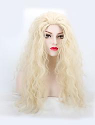 billige -Syntetiske parykker Naturligt, bølget hår Syntetisk hår Paryk Dame Lang Lågløs