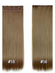 """Synthetic Hair 24"""" 120g Synthetic Clip In Hair Extensions #16 High Temperature Fiber Strgight Hair Extensions"""