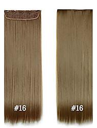"""capelli sintetici 24 """"la clip sintetica 120g nelle estensioni dei capelli # 16 ad alta temperatura estensioni dei capelli fibra strgight"""
