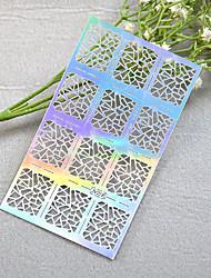 cheap -1pcs New Hollow Sticker Colorful Geometric Image Nail Manicure Design JV206-210