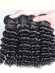 10-30inch 4 parti 400g i capelli ricci malesi malesi 100g capelli vergini malaysian 100%