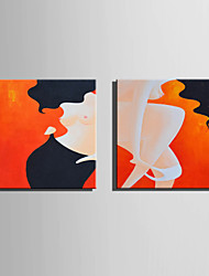 cheap -Mini Size E-HOME Oil painting Modern Women Pure Hand Draw Frameless Decorative Painting