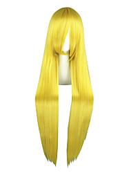 cheap -Cosplay Wigs Sailor Moon Sailor Moon Yellow Long Anime Cosplay Wigs 100 CM Heat Resistant Fiber Male / Female