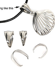 cheap -Beadia 40Pcs Stainless Steel Pendant Clips & Bail Connector Clasps(Mixed 2 Sizes)