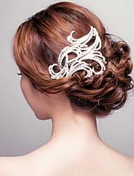 Недорогие -кристалл горный хрусталь сплав волосы гребень головной убор классический женский стиль