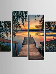cheap -Print Landscape European Style Four Panels