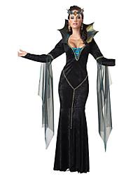Costumes de Cosplay Vampire Cosplay de Film Noir Robe Halloween Noël Nouvel an Féminin