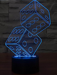 cheap -Anteresting 3D Illusion Three-Dimensional Sieve Night Light LED Table Lamp