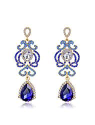 baratos -Mulheres Brinco - Fashion Prata / Azul Para Casamento / Festa / Diário / Diamante / Multi-Pedras / Zircão