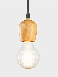 cheap -Vintage American Style Single Head Wood Pendant Light Lamps For Home,Restaurant,Cafe ,Loft ,Game Room,Garage