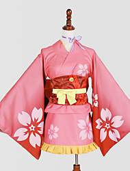 Inspired by Kabaneri Of The Iron Fortress Nameless Actress Anime Cosplay Costumes Cosplay Suits Kimono Print Cravat Yukata Headpiece