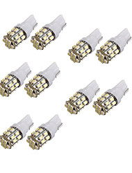 cheap -10pcs T10 24SMD 1206 White Car Wedge LED Light Auto License Plate Clearance Lamp Reading Bulb (DC12V)