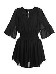 preiswerte -Damen Kleid - Lose Übergröße / Sexy Verziert Mini Andere V-Ausschnitt