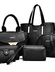 cheap -Women's Bags PU(Polyurethane) Tote / Bag Set 6 Pieces Purse Set Yellow / Fuchsia / Blue / Bag Sets