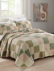 Comfortable Cotton Plain 100% Cotton Quilted Geometric