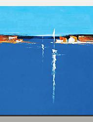 abordables -Peinture à l'huile Hang-peint Peint à la main - Paysages Abstraits Moderne Avec Cadre