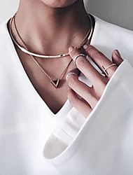 cheap -Women's Geometric Choker Necklace / Pendant Necklace / Tattoo Choker - Tattoo Style, Vintage, Fashion Golden Necklace For Party, Daily, Casual