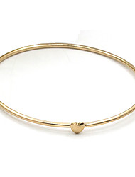 cheap -Women's Bangles - Heart Fashion Bracelet Gold For Daily