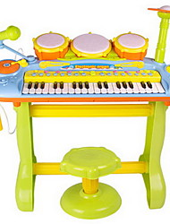 cheap -ou rui Drum Set Piano Electronic Piano Toy Toy Musical Instrument Set Electronic Keyboard Piano Drum Set with Microphone Fun Plastic Kid's