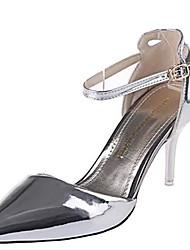 Femme Chaussures à Talons Cuir Verni Eté Décontracté Boucle Talon Aiguille Argent Rouge Doré 5 à 7 cm