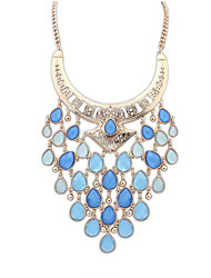 moda borla gotas de água colar jóias finas estilo elegante