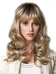 Donna Parrucche sintetiche Senza tappo Medio Riccio Biondo Parrucca di Halloween Parrucca di carnevale costumi parrucche