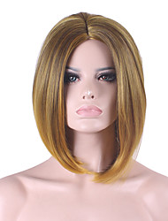 cheap -Best-selling Europe And The United States COS Wig Golden Brown Gradient Of  Bobo Wig 12 Inch