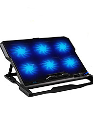 cheap -Six Fans Ergonomic Cooler Cooling Pad With Stand Holder for Laptop Notebook