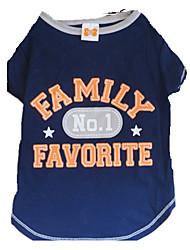 preiswerte -Hund T-shirt Hundekleidung Buchstabe & Nummer Sterne Weiß / blau Baumwolle Kostüm Für Haustiere