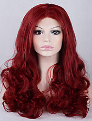 Fashion Ombre Body Wave Synthetic Lace Front Wigs Glueless Long Red Color Wig