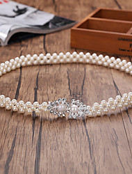 Bead Elastic Wedding Party/ Evening Sash With Imitation Pearl