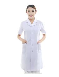 baratos -médicos coat enfermeira branca de mangas curtas servindo de cosméticos odontologia hospitalar jaleco uniformes médicos