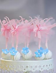 baratos -Decorações de Bolo Tema Praia Tema Clássico Engraçado e Relutante Papel de Cartão Casamento Aniversário com Laço Fitas 10 PPO