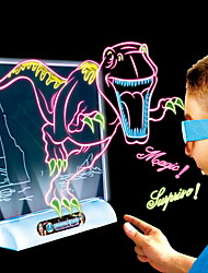 cheap -Drawing Toy Drawing Tablet Dinosaur Birthday Lighting LED Lighting LED Magic 3D Classic Boys'
