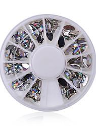 Manicure Shaped Diamond 12 High Quality Color Taiwan Manicure Oval Disc AB Jewelry Box