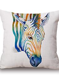 1Pcs Cotton Marine Organism Animal Watercolour Pillow Cover 45*45cm