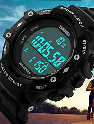 cheap -SKMEI Men's Digital Watch Sport Watch Digital Alarm Calendar / date / day Water Resistant / Water Proof Pedometers Stopwatch Three Time