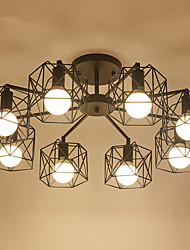 cheap -8Chandelier ,  Modern/Contemporary Electroplated Feature for Designers Metal Living Room / Study Room/Office