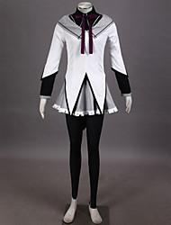Ispirato da Puella Magi Madoka Magica Homura Akemi Anime Costumi Cosplay Abiti Cosplay CollageTop Gonna Pantaloni Bracciale Arco Fascia