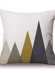 cheap -Cotton/Linen Pillow Cover,Novelty / Geometric / Graphic Prints Modern/Contemporary / Casual