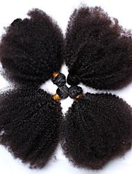 abordables -4 offres groupées Cheveux Mongoliens Afro / Kinky Curly Cheveux humains Tissages de cheveux humains Tissages de cheveux humains Extensions de cheveux humains / Très Frisé