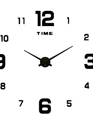 cheap -Casual Modern/Contemporary Stainless Steel Acrylic Metal Round Novelty Indoor/Outdoor Indoor Outdoor,AA Wall Clock