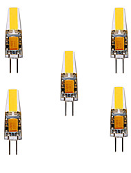 baratos -Ywxlight® g4 led bi-pin lights mr11 4 cob 460 lm branco quente branco frio decorativo dc / ac 12v dc / ac 24v 5pcs