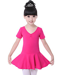 cheap -Shall We Ballet Dresses Children's Training Cotton Ruched Dress