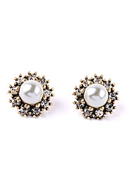 cheap -Women's Flower - Party / Bohemian / Fashion White Round Earrings For Party / Daily / Casual