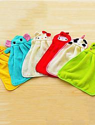 economico -simpatico cartone animato appeso pulire strumenti torri panno di stoffa a mano, tessile (colori casuali)