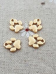 20pcs chiot chien empreinte animal paw print charme collier de perles pendent pendentif (9 * 11mm)